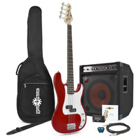 LA Bass Guitar 150W Power Pack Red