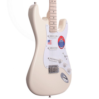 Fender Eric Clapton Stratocaster Electric Guitar, MN Olympic White