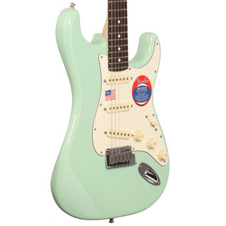 Fender Jeff Beck Stratocaster Electric Guitar,  Surf Green