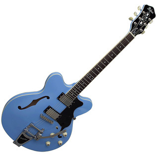 Hofner Verythin Limited Edition Bigsby Electric Guitar, Power Blue
