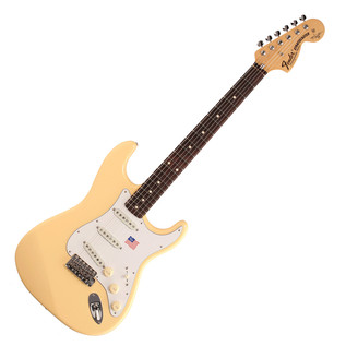 Fender Yngwie Malmsteen Stratocaster Guitar, RW Vintage White