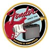 Fender Round Guitars & Amps Tin Sign