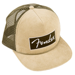 Fender Corduroy Trucker Cap, Olive Green, One Size