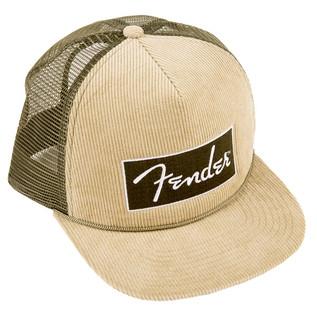Fender Corduroy Trucker Cap, Olive Green, One Size