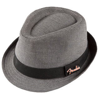 Fender Fedora with Pin, Black/Gray Check, S/M