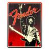 Fender Jimi Hendrix fred tegn Tin tegn