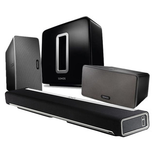 Sonos PLAYBAR, PLAY 3 and SUB 5.1 Wireless Cinema Bundle