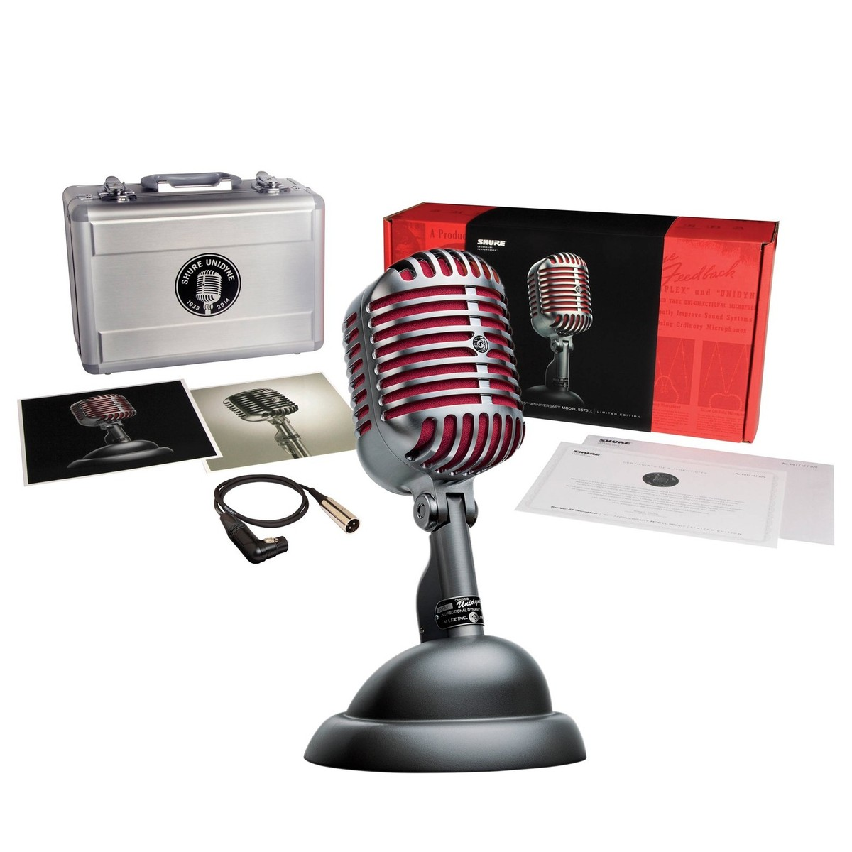shure 5575le unidyne ltd edition 75th anniversary dynamic mic at. Black Bedroom Furniture Sets. Home Design Ideas