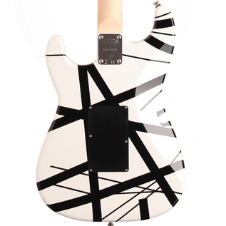 EVH Stripe Series Electric Guitar, White with Black Stripes