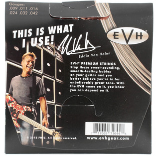 EVH Premium Nickel Electric Guitar Strings, 9 - 42 Gauge