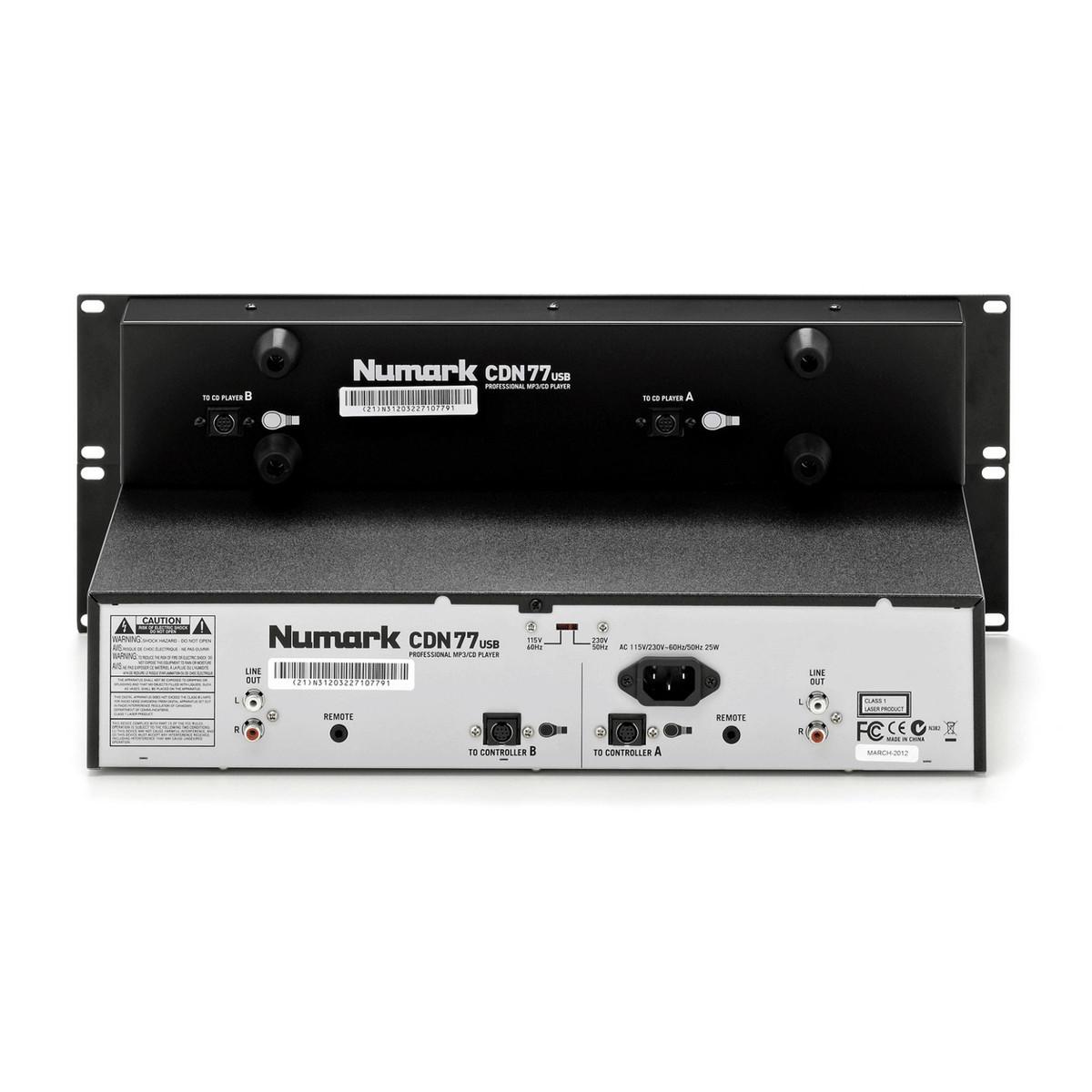 Numark CDN77USB Professional Dual USB & MP3 CD Player
