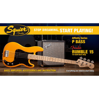 Squier Stop Dreaming, Start Playing Affinity P Bass Pack, Blonde