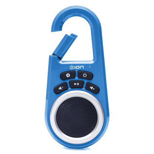 ION ISP29BL Clipster Ultra-Portable Wireless Bluetooth Speaker, Blue