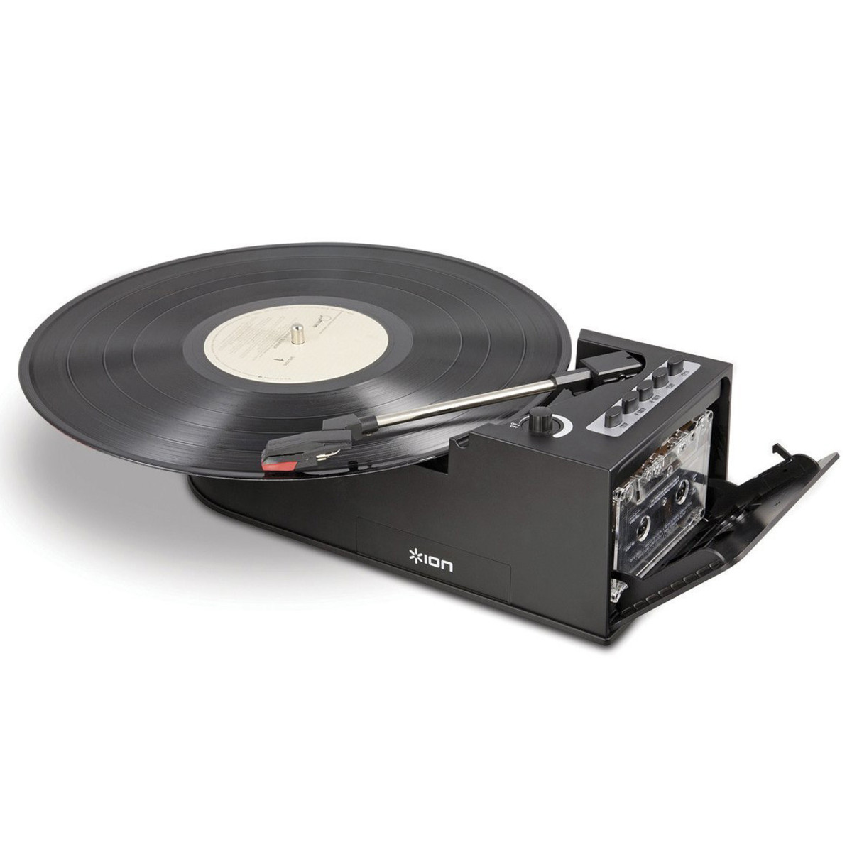 Ion Duo Deck Ultra Portable Digital Turntable With