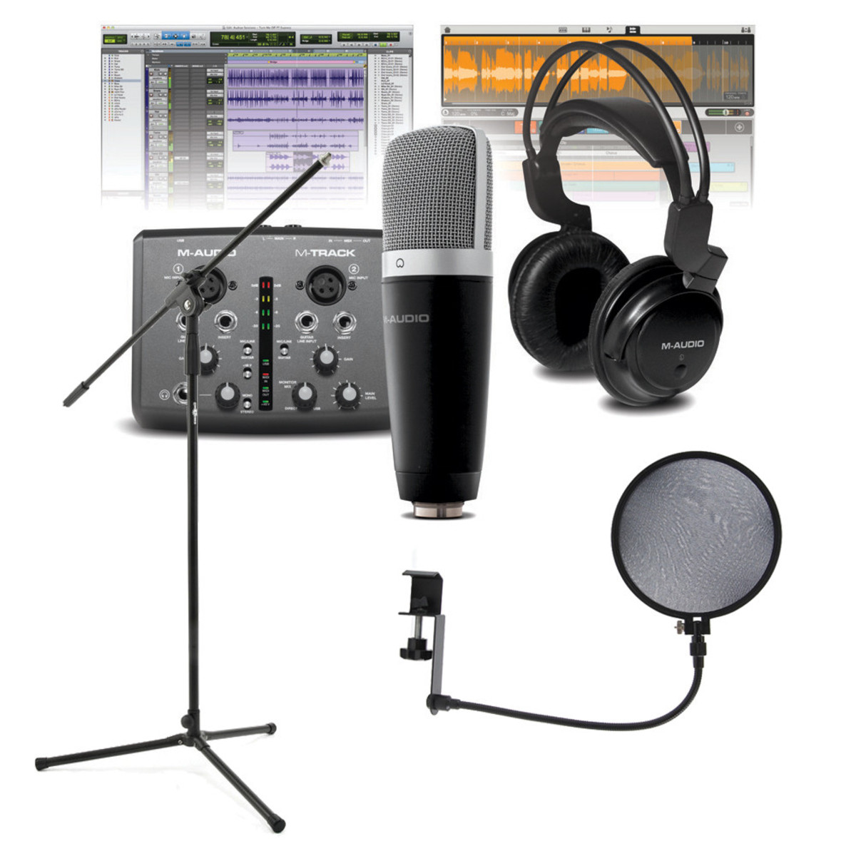 m audio vocal studio pro recording bundle mic stand and pop filter at. Black Bedroom Furniture Sets. Home Design Ideas