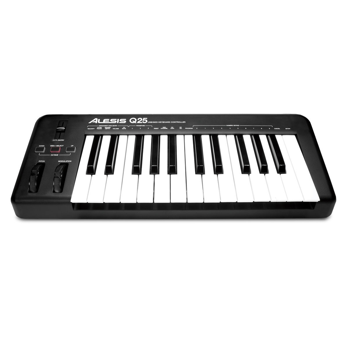 Image of Alesis Q25 25 Key USB/MIDI Keyboard