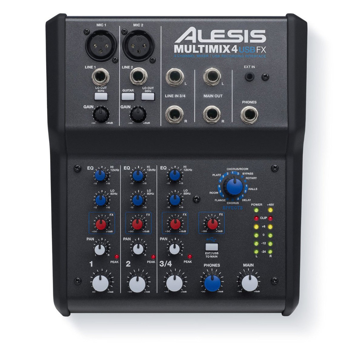 Image of Alesis MultiMix 4 USB Mixer With FX