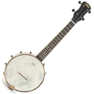 Kala KA-BNJ-BK-C Concert Banjo Ukulele, Satin Black