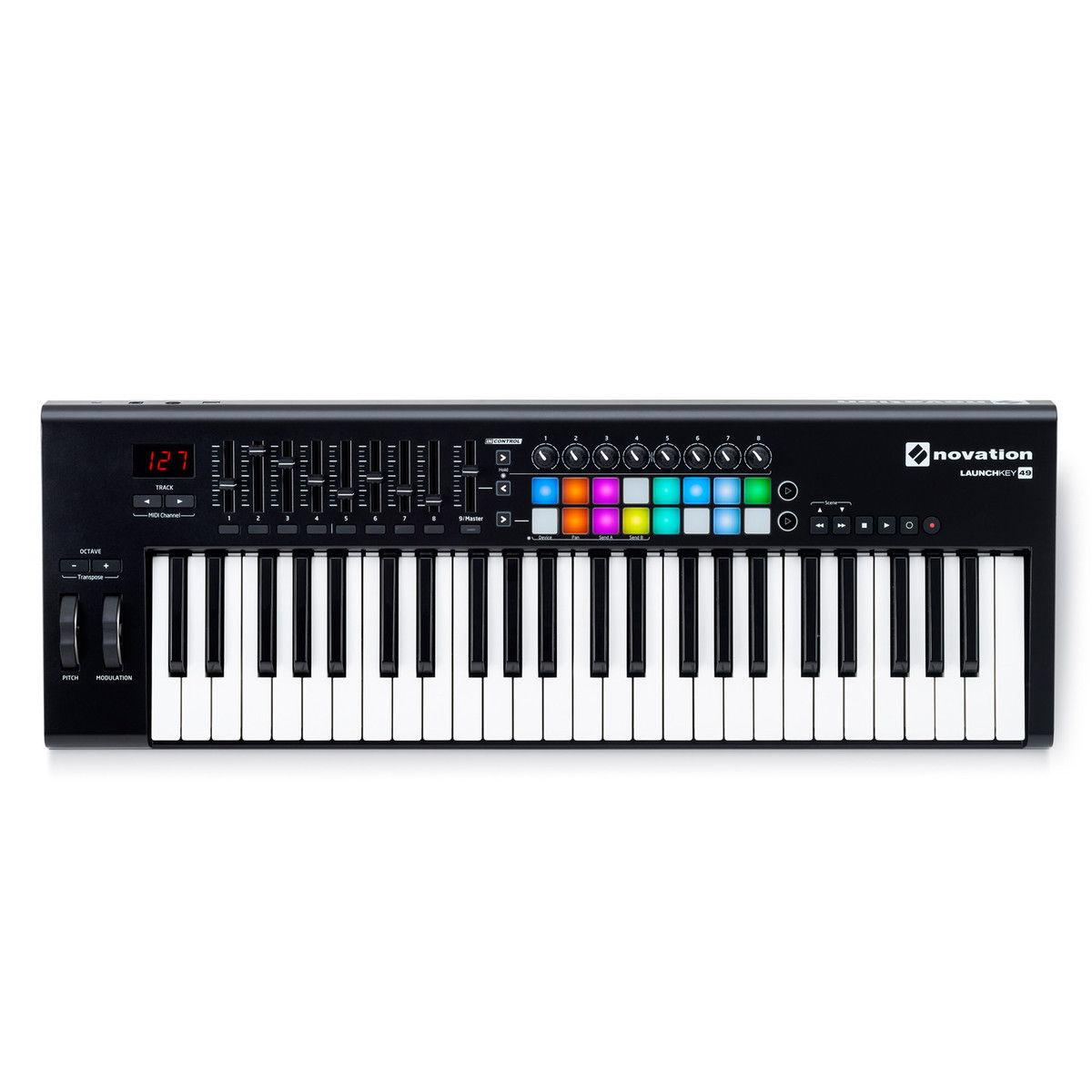 novation launchkey 49 mk2 midi controller keyboard at. Black Bedroom Furniture Sets. Home Design Ideas