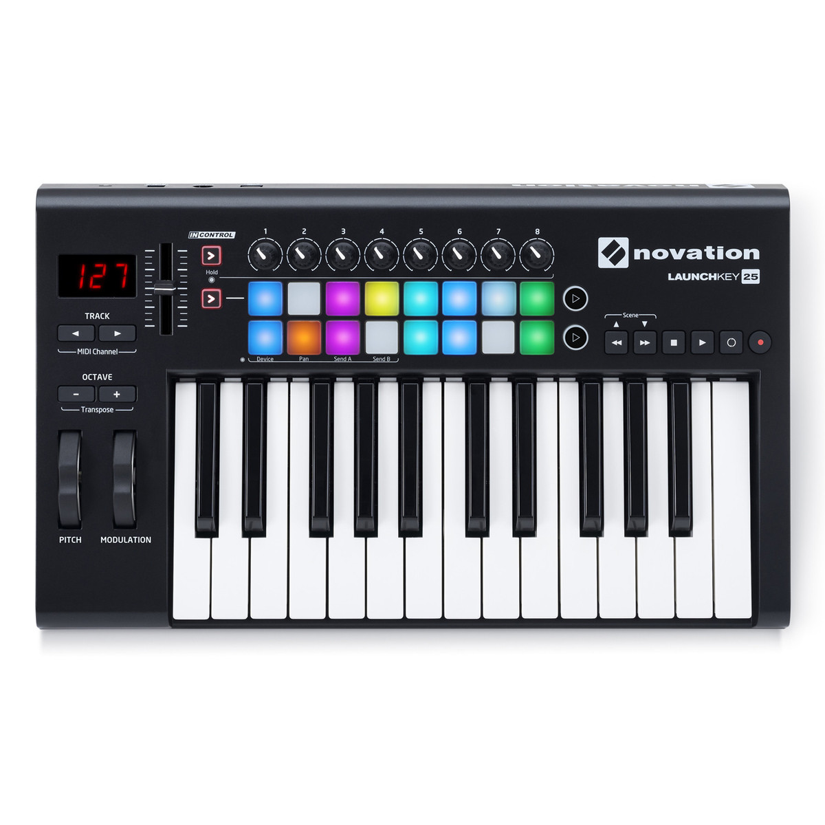 novation launchkey 25 mk2 midi controller keyboard at. Black Bedroom Furniture Sets. Home Design Ideas