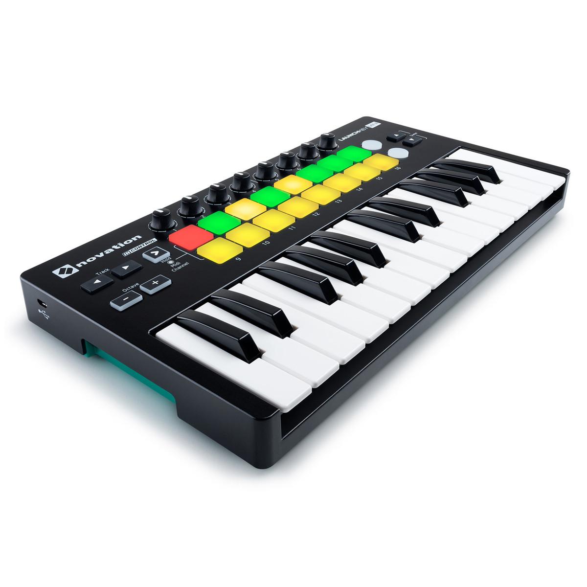 novation launchkey mini mk2 midi controller keyboard at. Black Bedroom Furniture Sets. Home Design Ideas