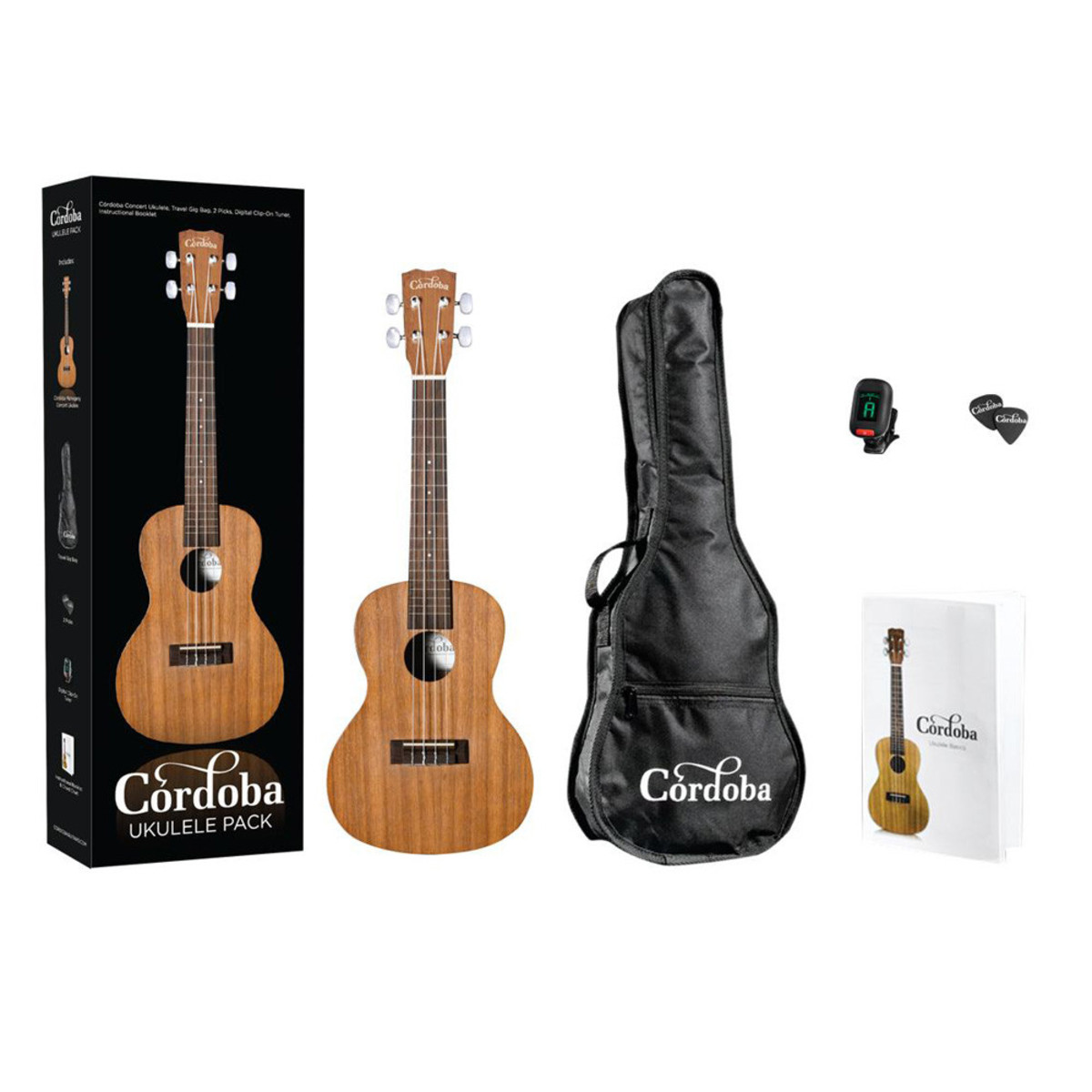 Image of Cordoba UP100 Complete Concert Ukulele Pack