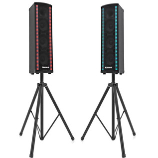 Numark Lightwave Powered Loudspeaker with Dual LED with Stands