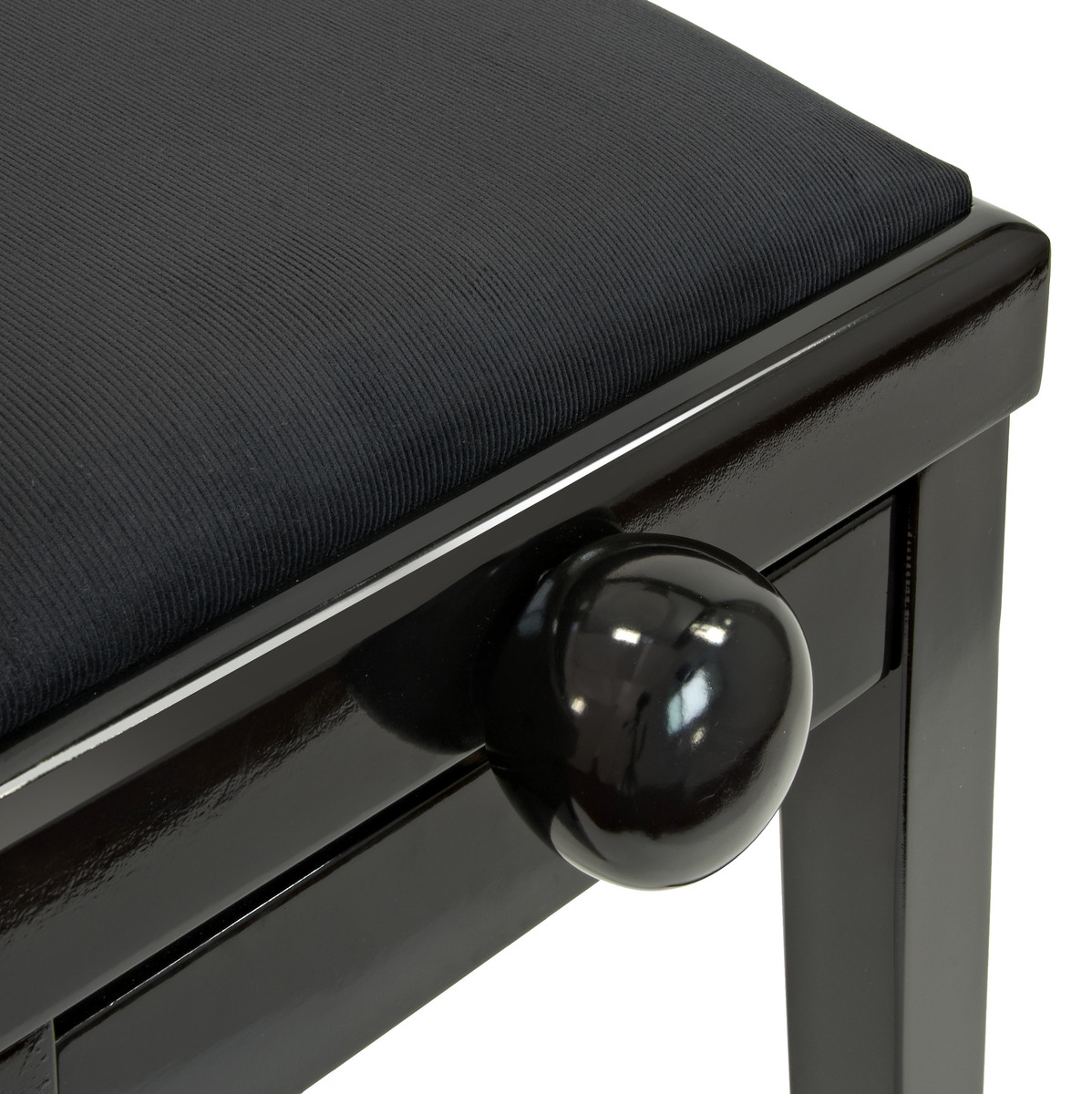 tabouret de piano r glable par gear4music polished ebony comme neuf. Black Bedroom Furniture Sets. Home Design Ideas