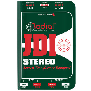 Radial JDI Stereo Passive Direct Box