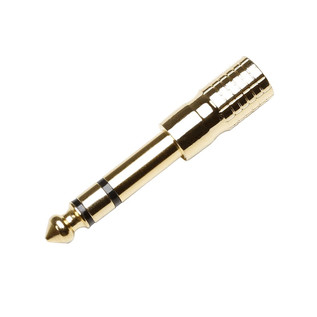 Adam Hall 3.5mm Stereo Jack Female to 6.3mm Stereo Jack Male, Gold
