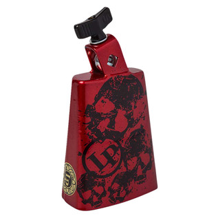 Latin Percussion Cow Bell Collect-A-Bells Black Beauty Red Skull