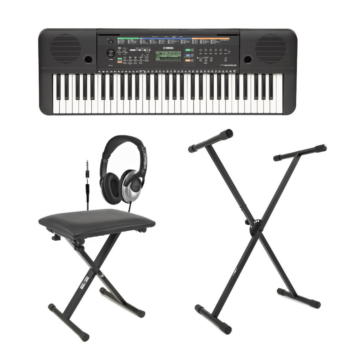 Yamaha psr e253 portable keyboard with stand bench and for Yamaha psr stand