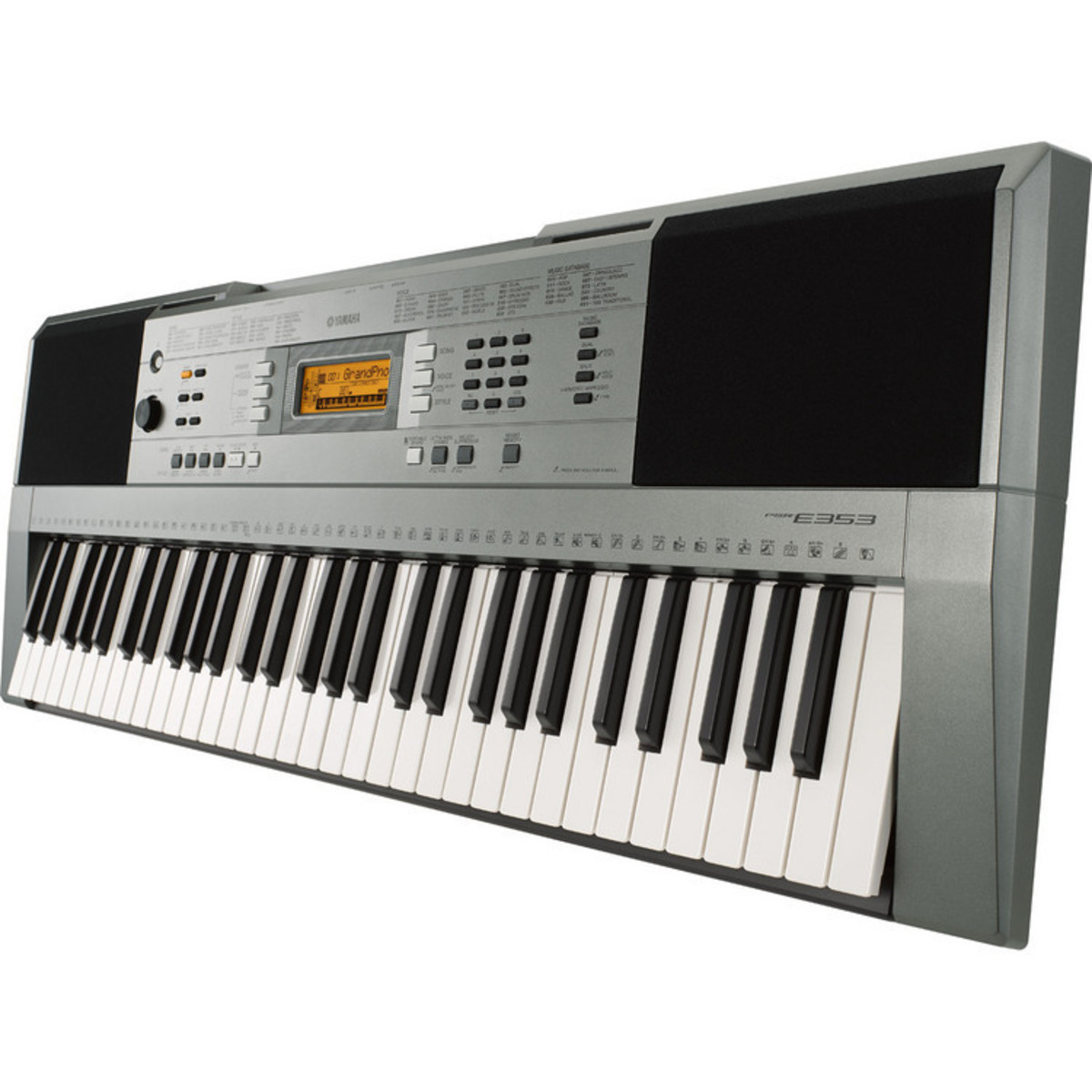 yamaha psre353 portable keyboard with stand bench and headphones at. Black Bedroom Furniture Sets. Home Design Ideas