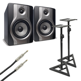M-Audio BX5 Carbon Active Studio Monitors with Stands (Pair)