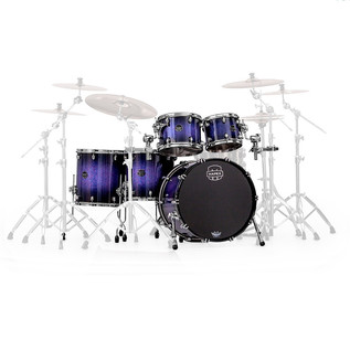 Mapex Saturn V 22'' Sound Wave Twin Shell Pack, Red/Blue Hybrid