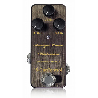 One Control Anodized Brown Distortion Guitar Effects Pedal