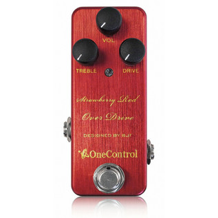 One Control Strawberry Red Overdrive Guitar Effects Pedal