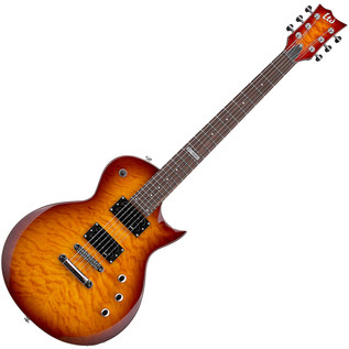 ESP LTD EC-100QM Electric Guitar, Faded Cherry Sunburst