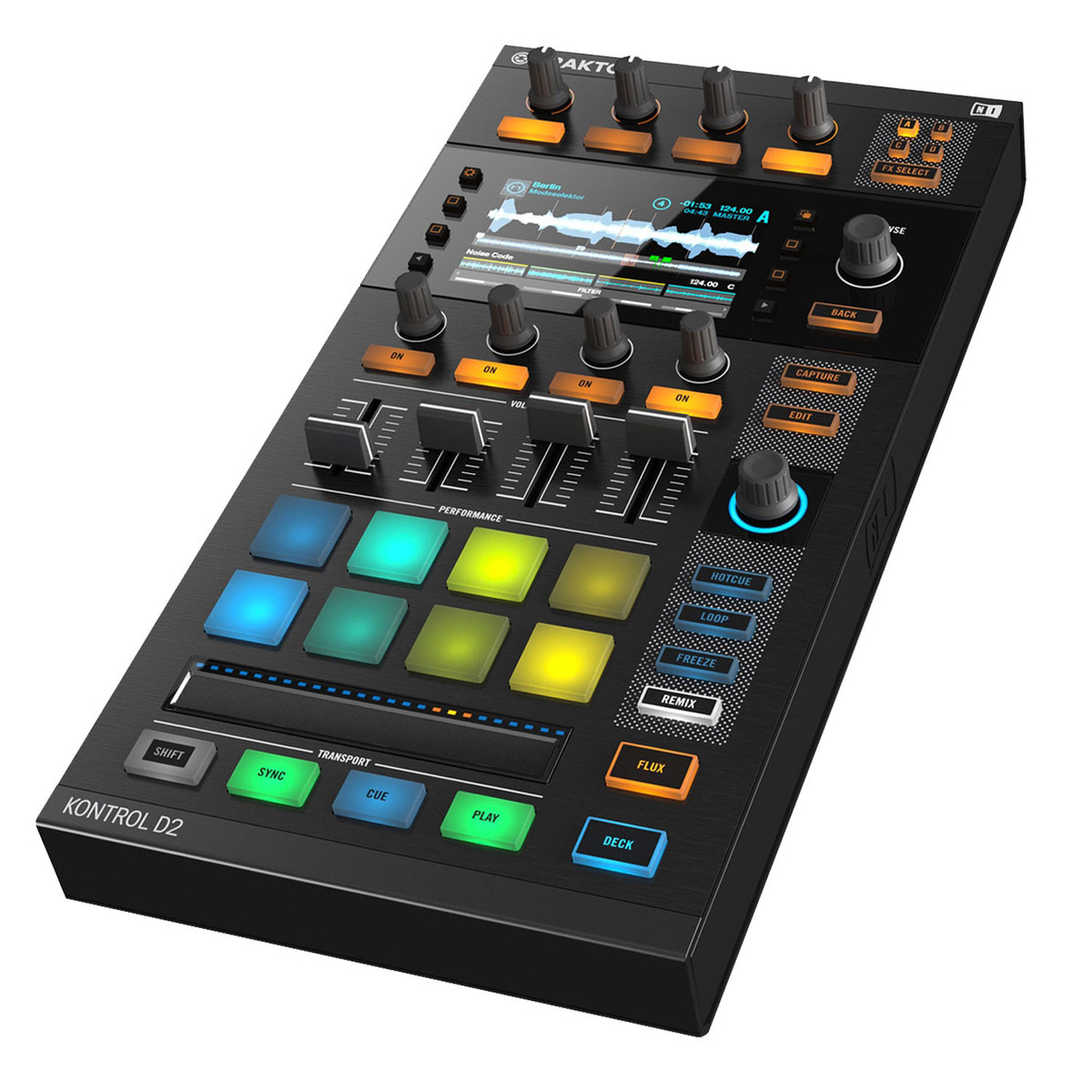 Image of Native Instruments Traktor Kontrol D2 Controller with Visual Display