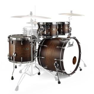 Pearl FW924XSP Wood Fiberglass Ltd Ed. Shell Pack, Satin Cocoa Burst