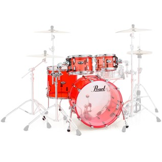 Pearl Crystal Beat 22'' American Fusion 4 Piece Shell Pack, Ruby Red