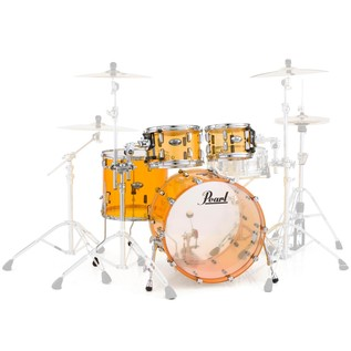 Pearl Crystal Beat 22'' Am. Fusion 4 Pc Shell Pack, Tangerine Glass