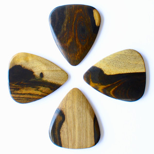 Timber Tones Malay Ebony Guitar Pick, Players Pack of 4