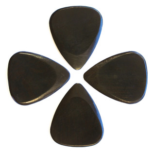 Timber Tones African Ebony Guitar Pick, Players Pack of 4