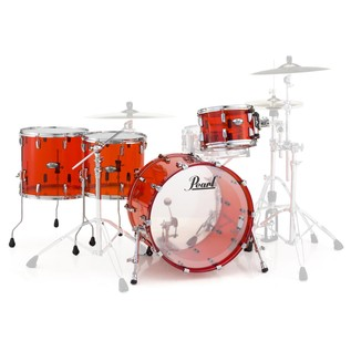 Pearl Crystal Beat 22'' Crossover 4 Pc Shell Pack, Ruby Red