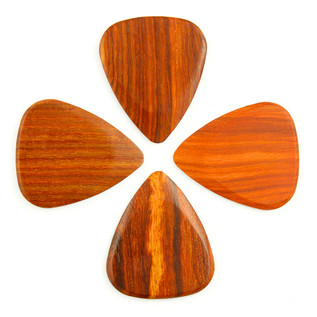 Timber Tones Bloodwood Guitar Pick, Players Pack of 4