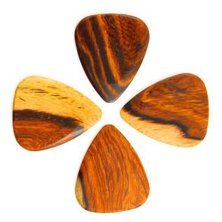 Timber Tones Burmese Rosewood Guitar Pick, Players Pack of 4