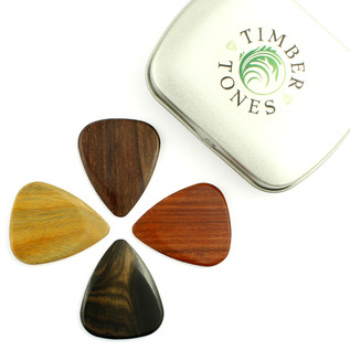 Timber Tones Mixed Electric Guitar Picks, Tin of Four