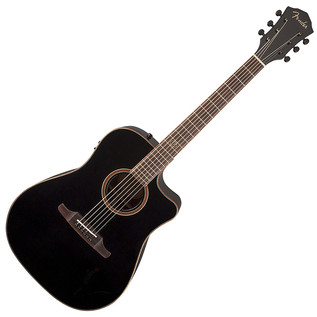 Fender F-1020CE Dreadnought Cutaway Electro-Acoustic Guitar, Black