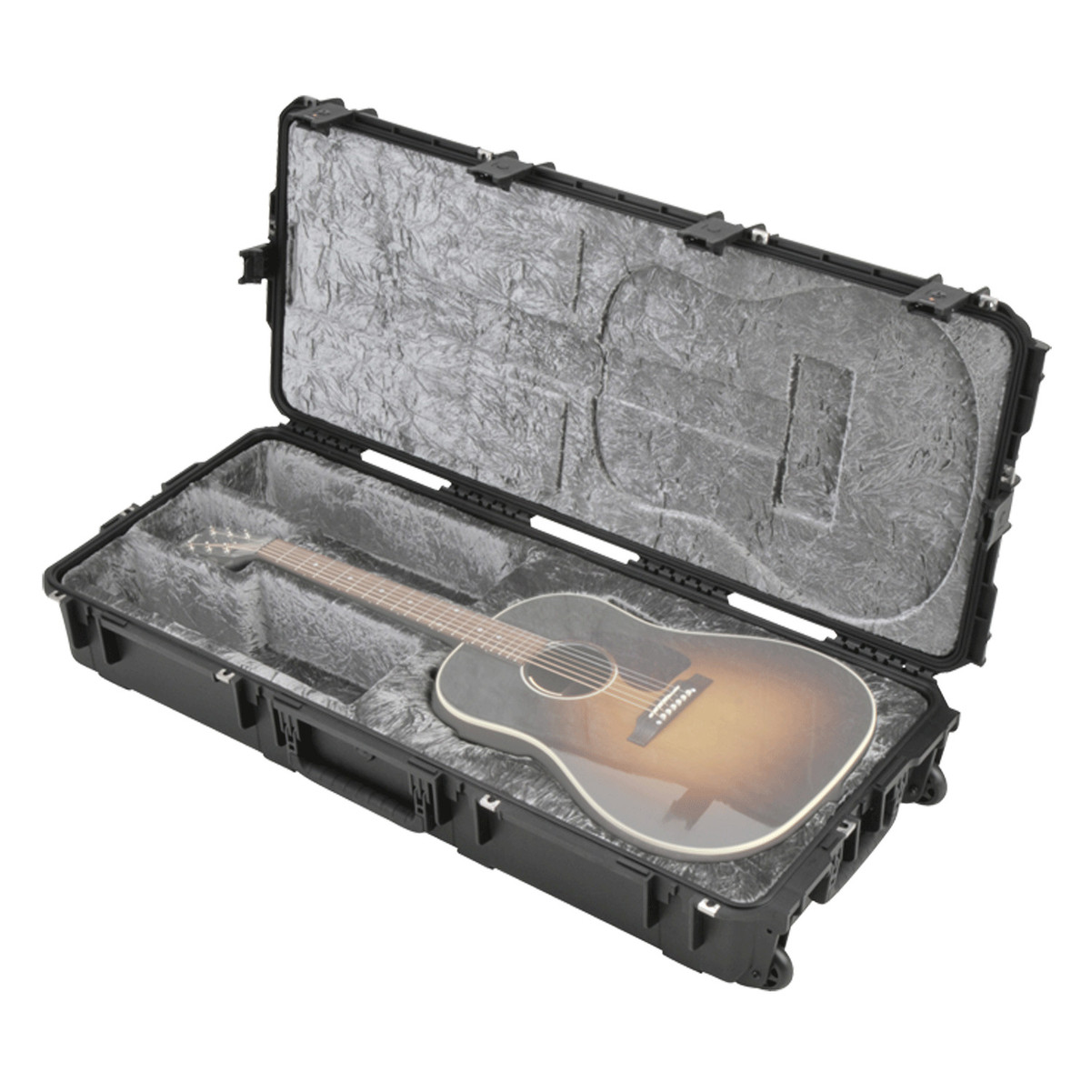 skb iseries injection moulded acoustic guitar flight case w wheels at. Black Bedroom Furniture Sets. Home Design Ideas